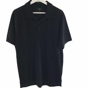 J. Crew Black Short Sleeve Mesh Polo Size L
